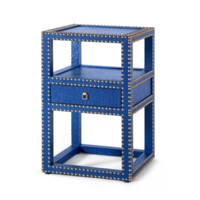 Marco 1-Drawer Side Table, Navy
