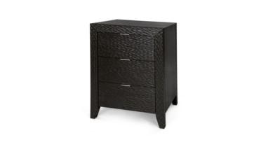 Mason 3-Drawer Side Table, Black