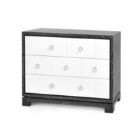 Berkeley 3-Drawer Brickfront w/ Chrome Pulls, Gray