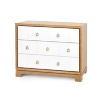 Berkeley 3-Drawer Brickfront w/ Bronze Pulls, Natural