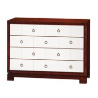 Berkeley Large 4-Drawer Brickfront w/ Bronze Pulls, Mahogany