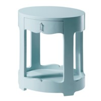 Brigitte 1-Drawer Side Table, Blue