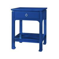 Harlow 1-Drawer Side Table, Blue