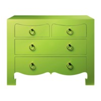 Jacqui Large 4-Drawer, Green