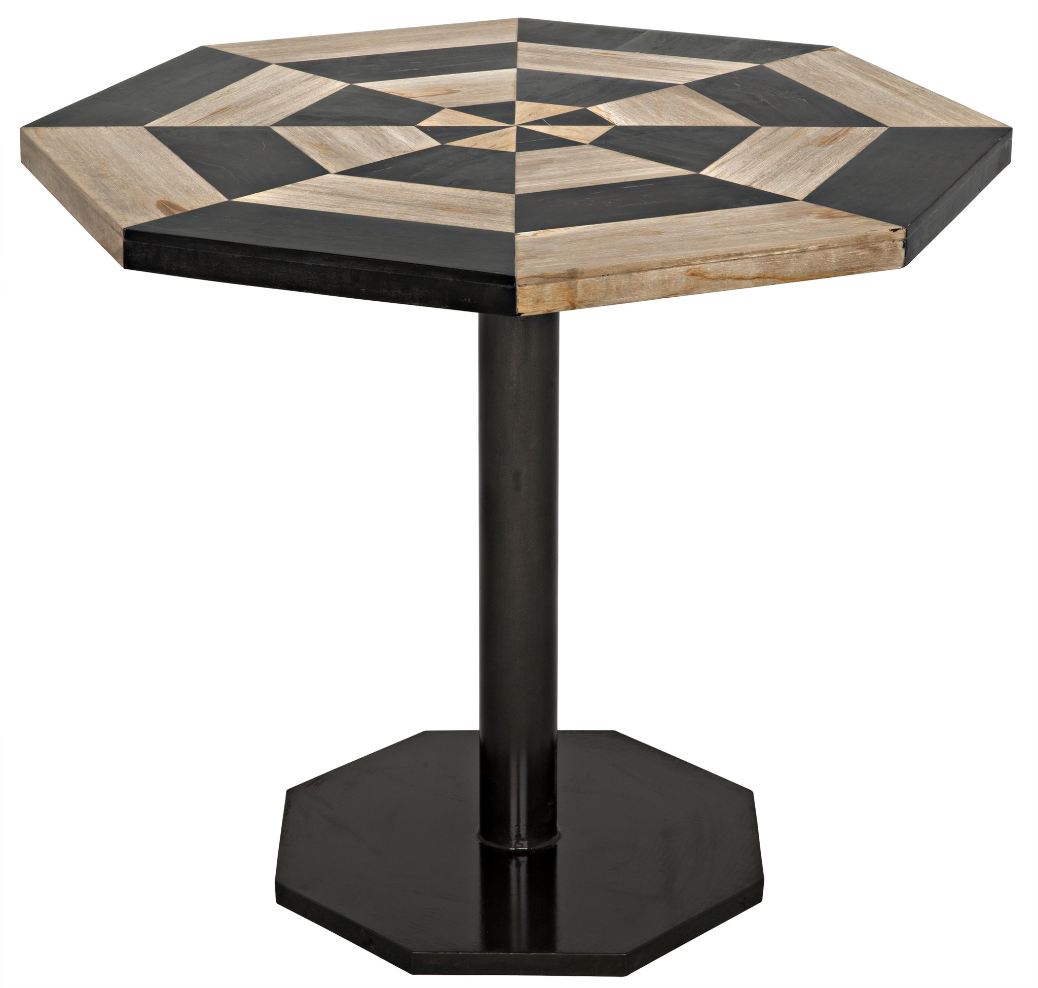 Great Irina Table, Fossil And Metal