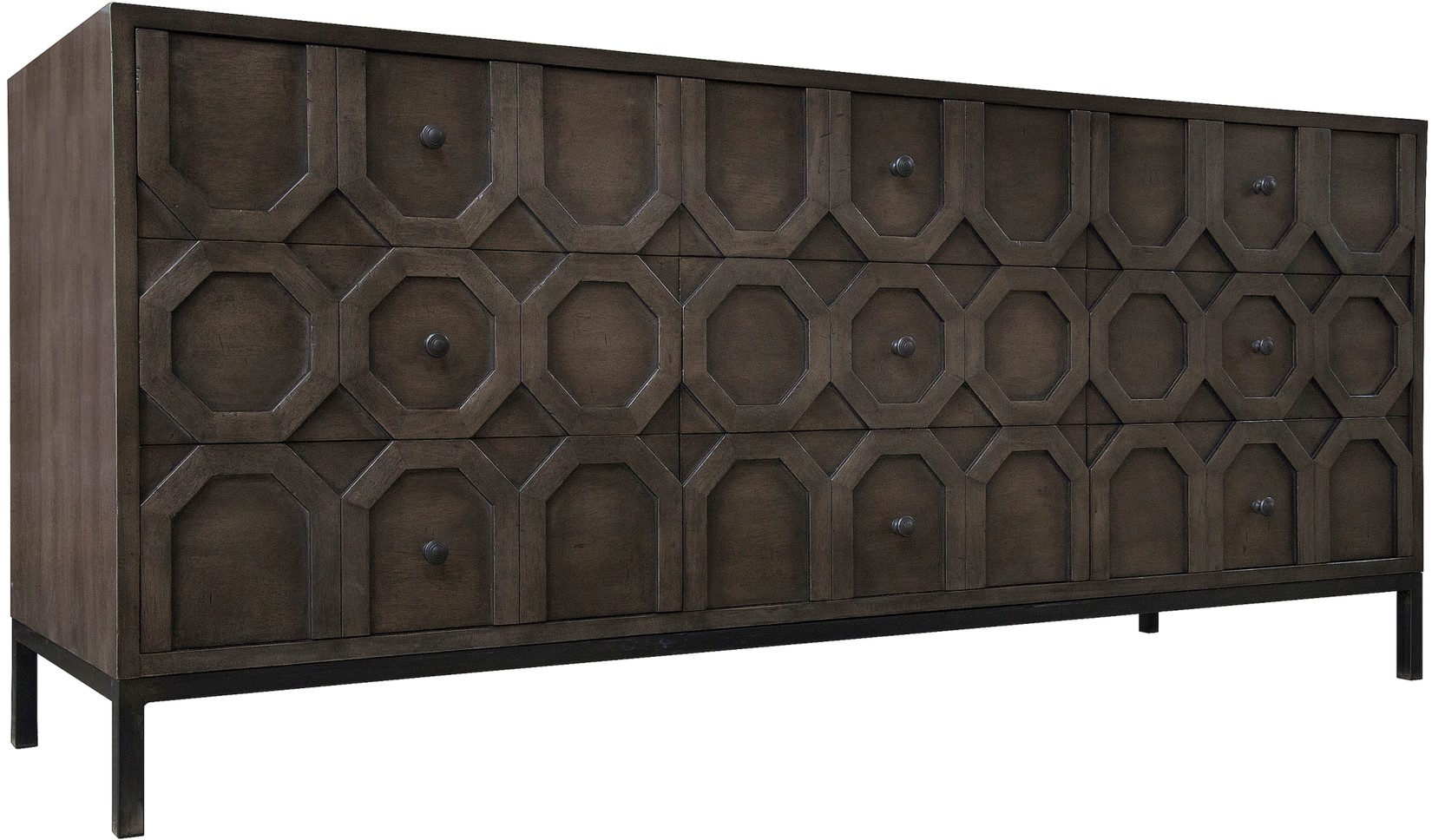 hadley 9 drawer buffet - Buffet Noir