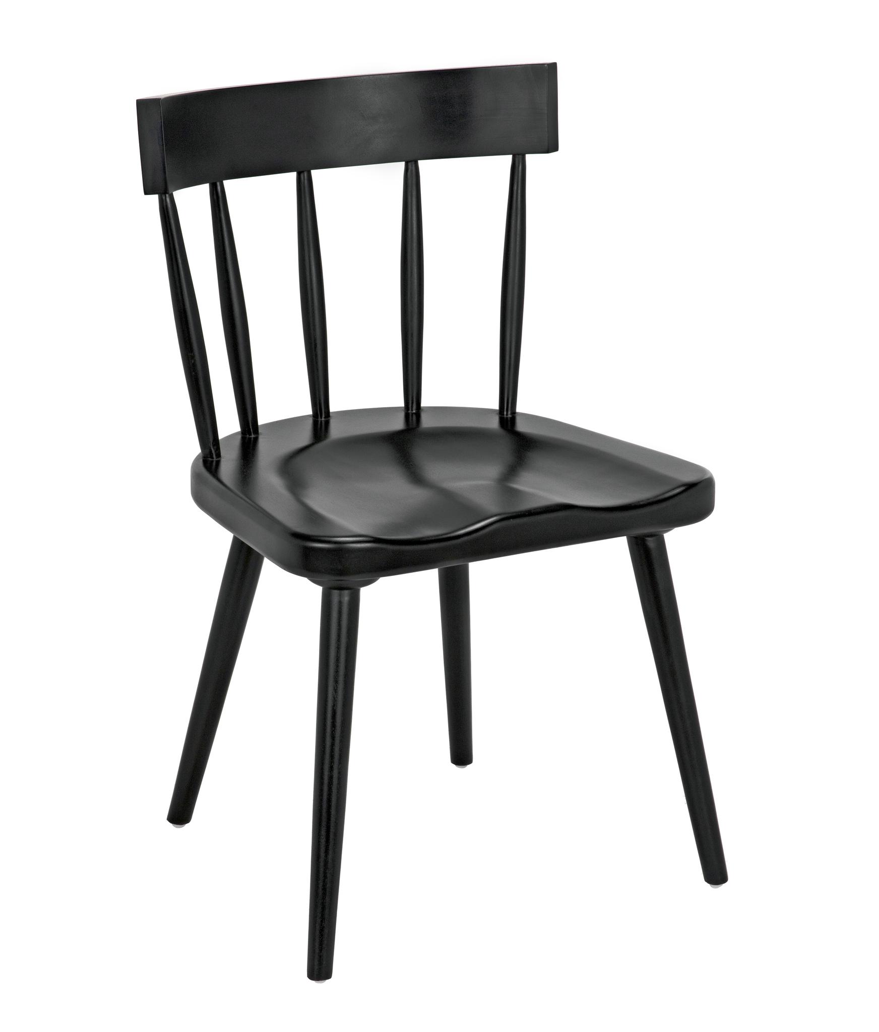 Esme Chair, Hand Rubbed Black