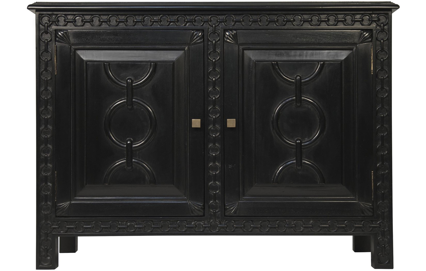 athos buffet hand rubbed black - Buffet Noir