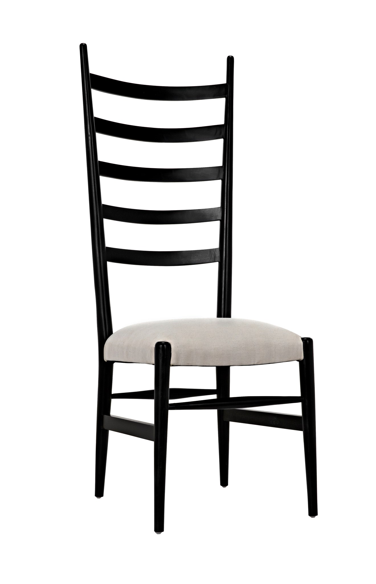 TR Ladder Back Dining Chair Hand Rubbed Black Blue Hand Home