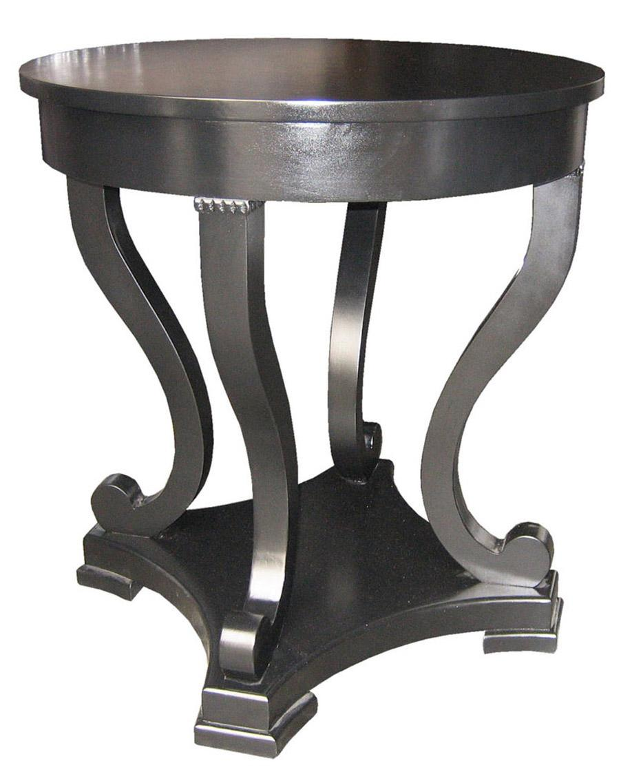 Noir for Black round end table