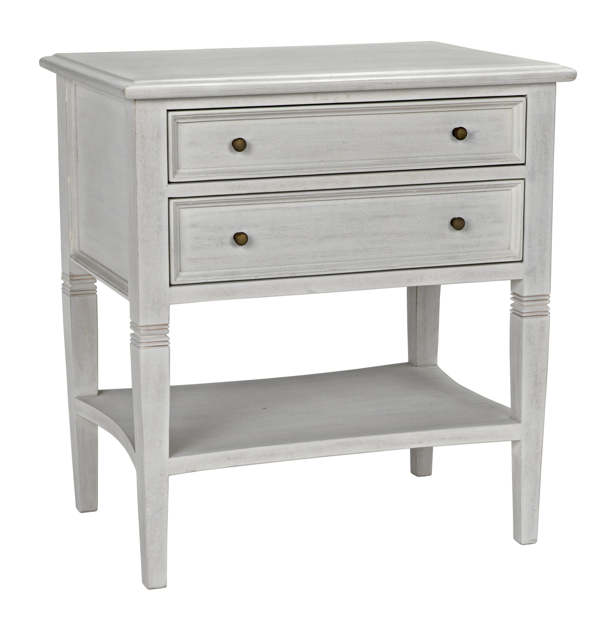 Side Table With Drawer - Qs oxford 2 drawer side table white wash