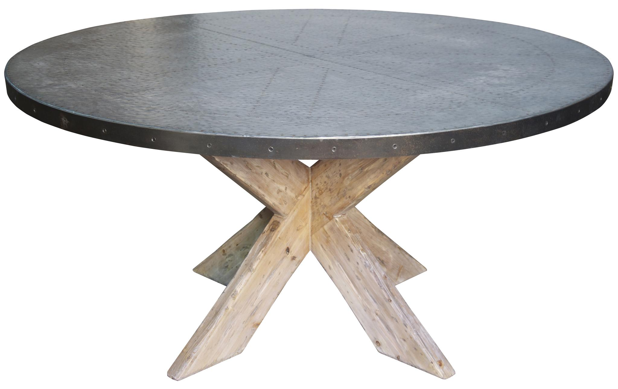 dining tables noir austin table with zinc top 60