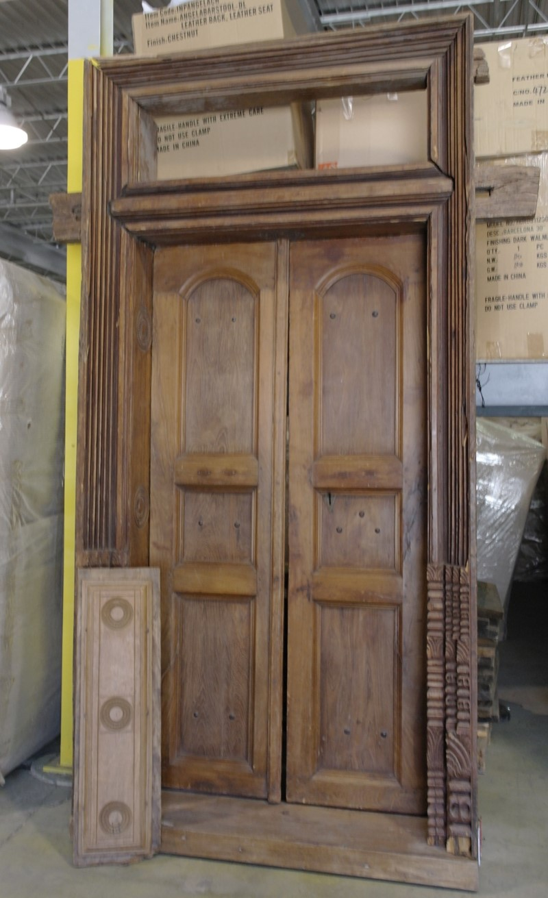 Wood Door with Frame