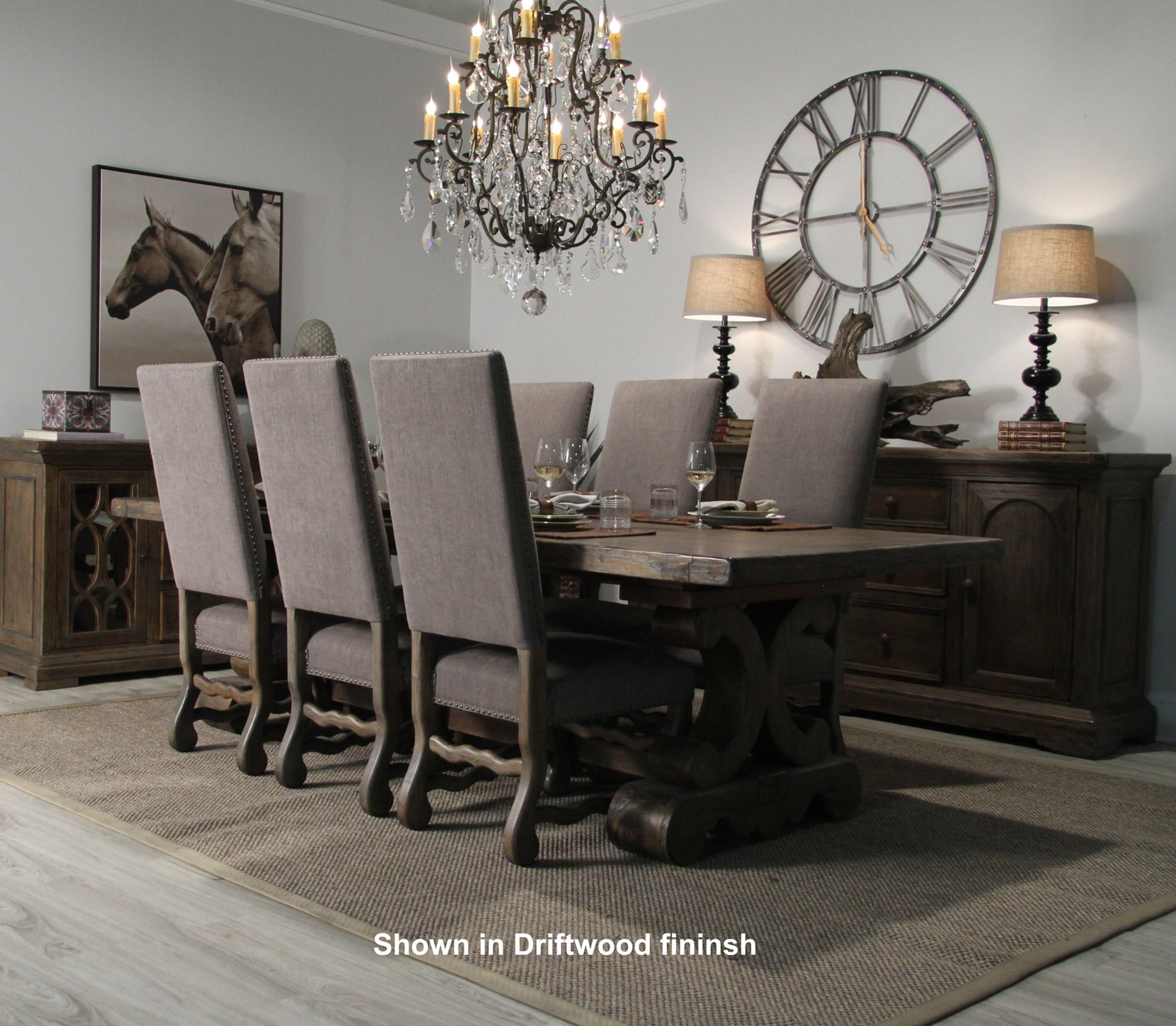 Ane Side Chair Granite Ash / Chestnut Finish