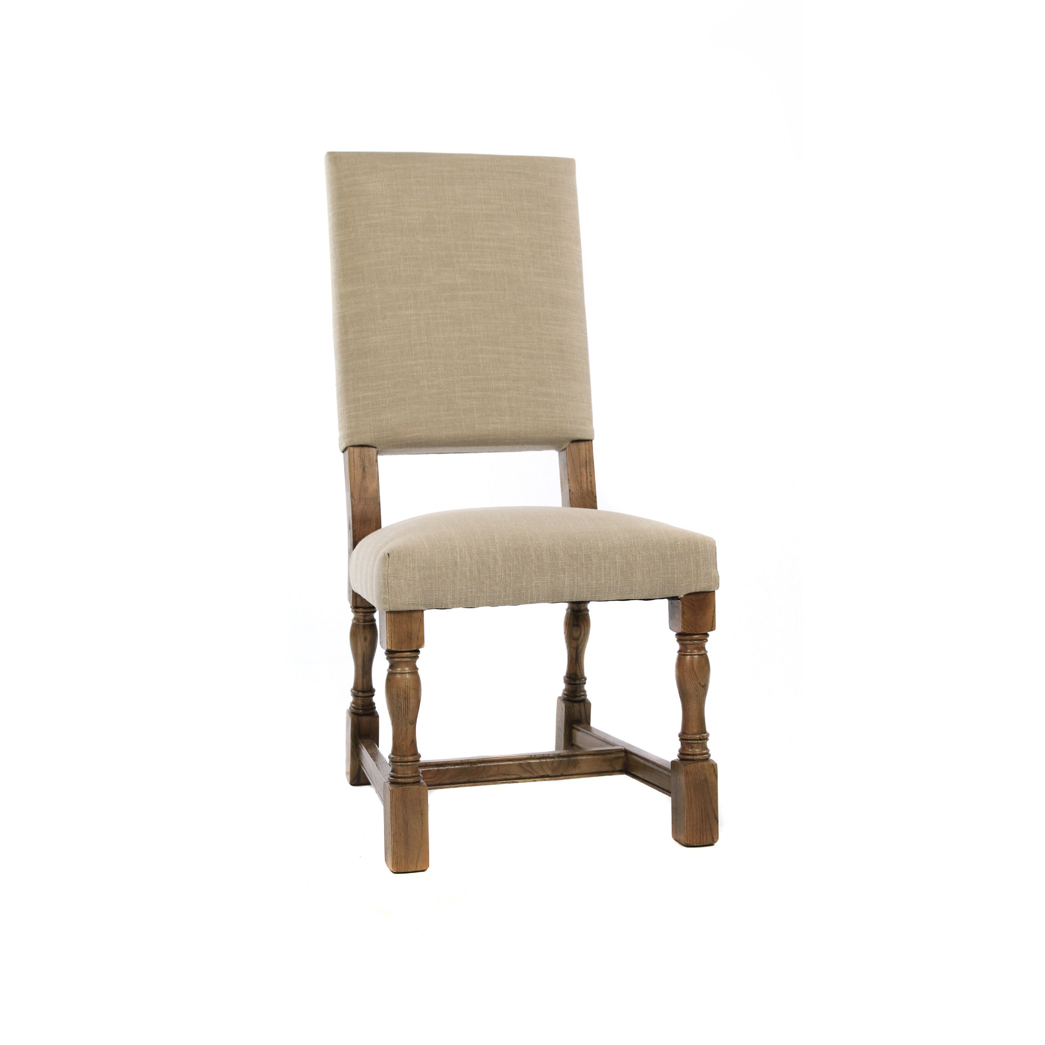 Carmen Side Chair Natural Linen Earth