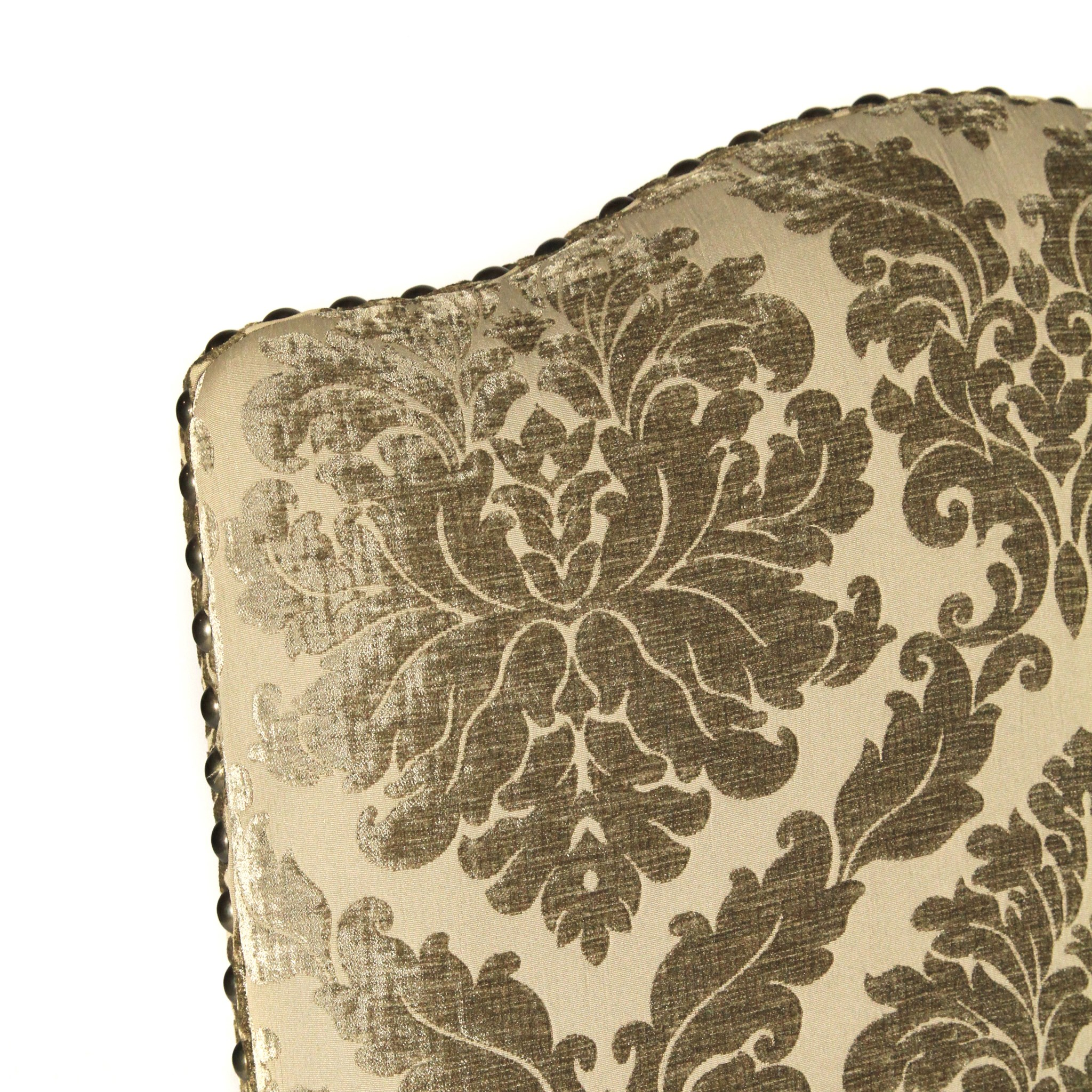 Hayden Arm Chair Pewter Damask/Primo Timber
