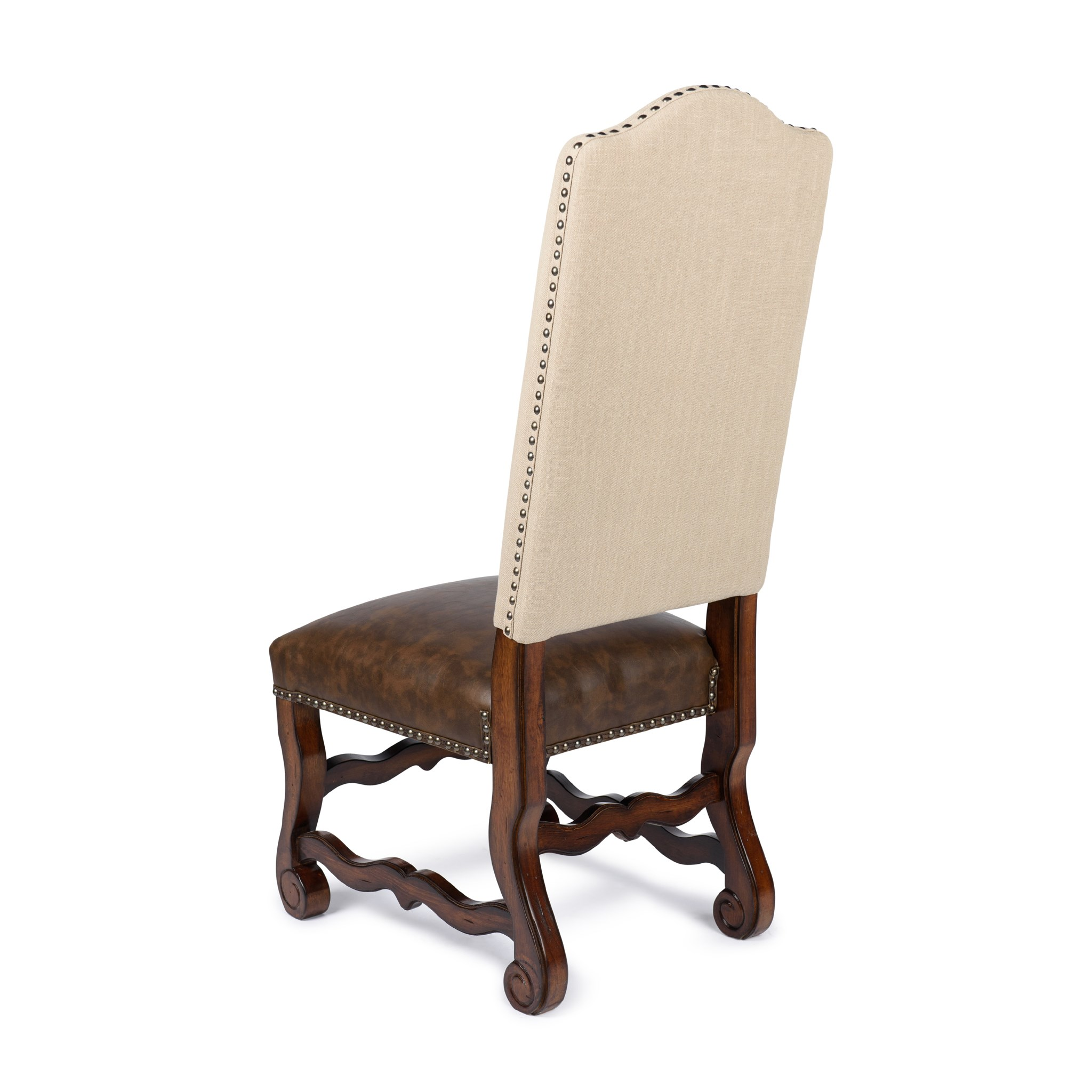 Hayden Side Chair Natural Linen/Primo Timber/Chestnut
