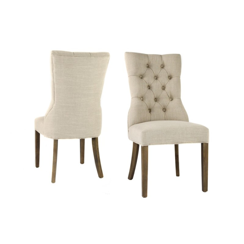 Ivy Side Chair Nat Linen Driftwood