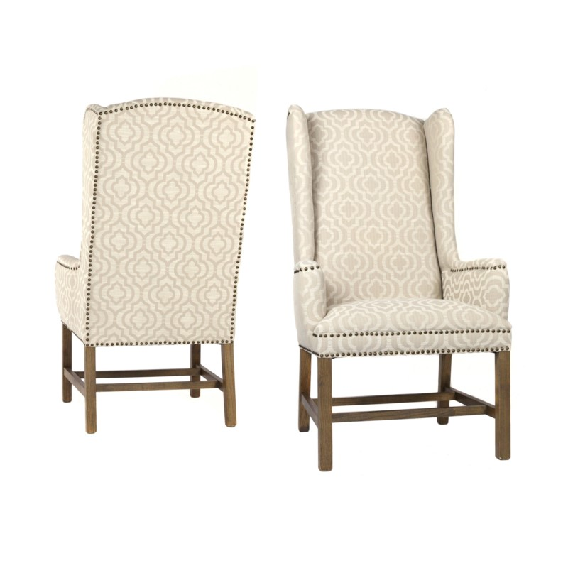 Oliver Wing Back Chair Veranda Fog Drftwd