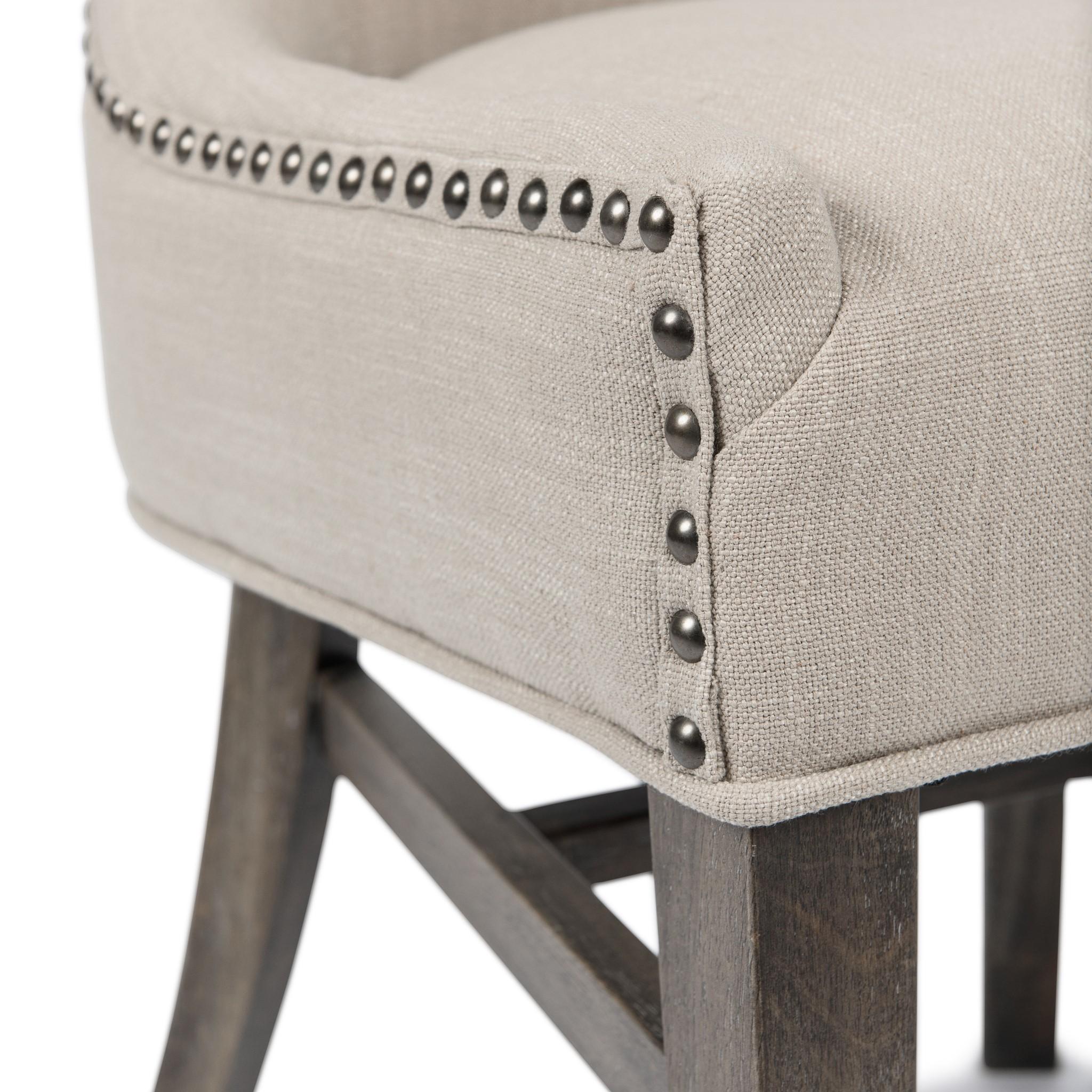 Joplin Side Chair Natural Linen Driftwood