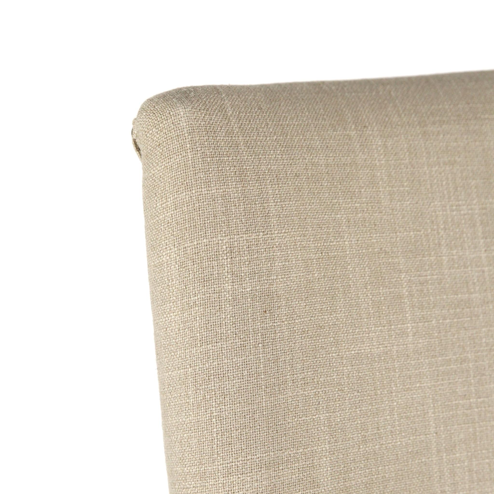 Joplin Side Chair Natural Linen Dark Walnut