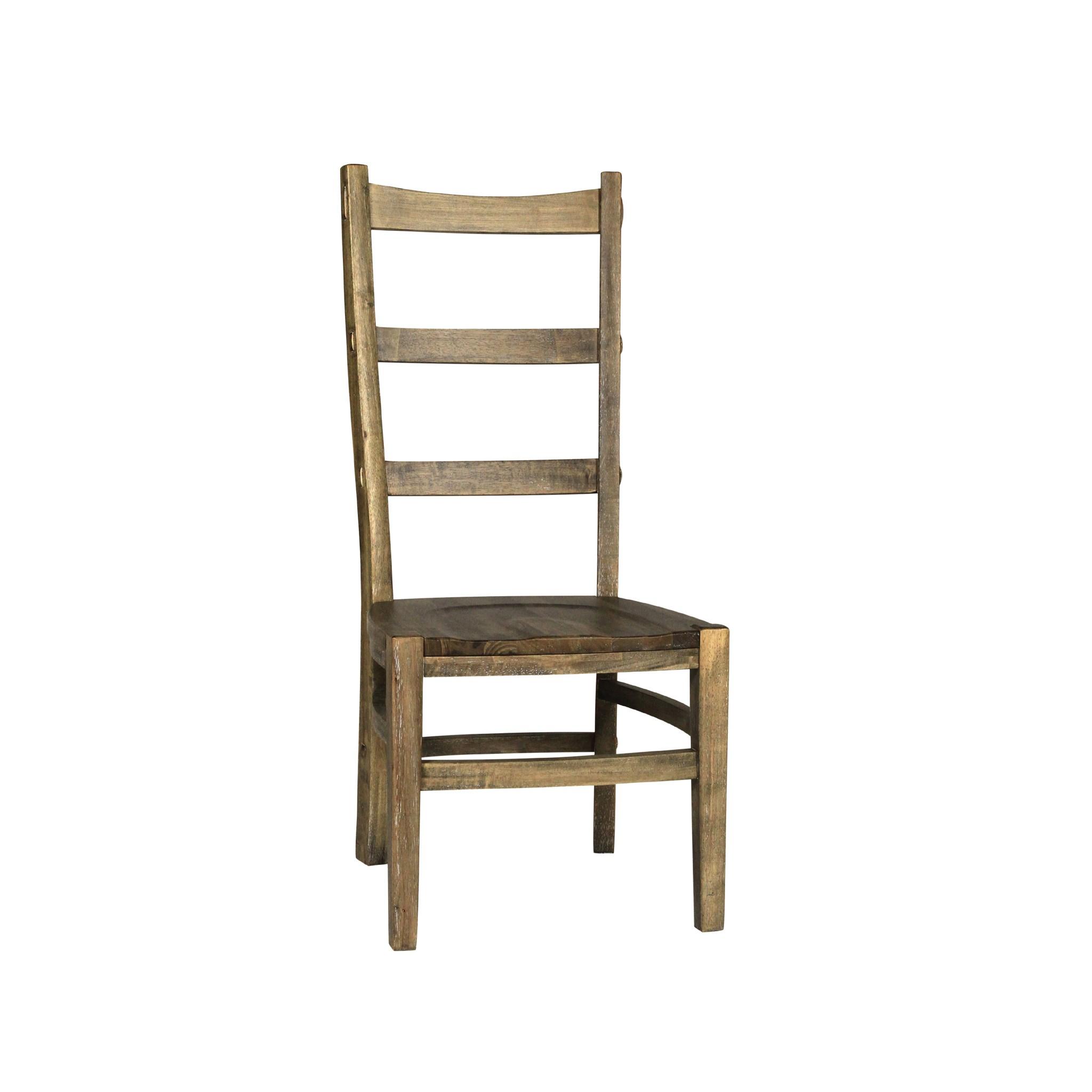 Newark Side Chair Wood Seat Driftwood