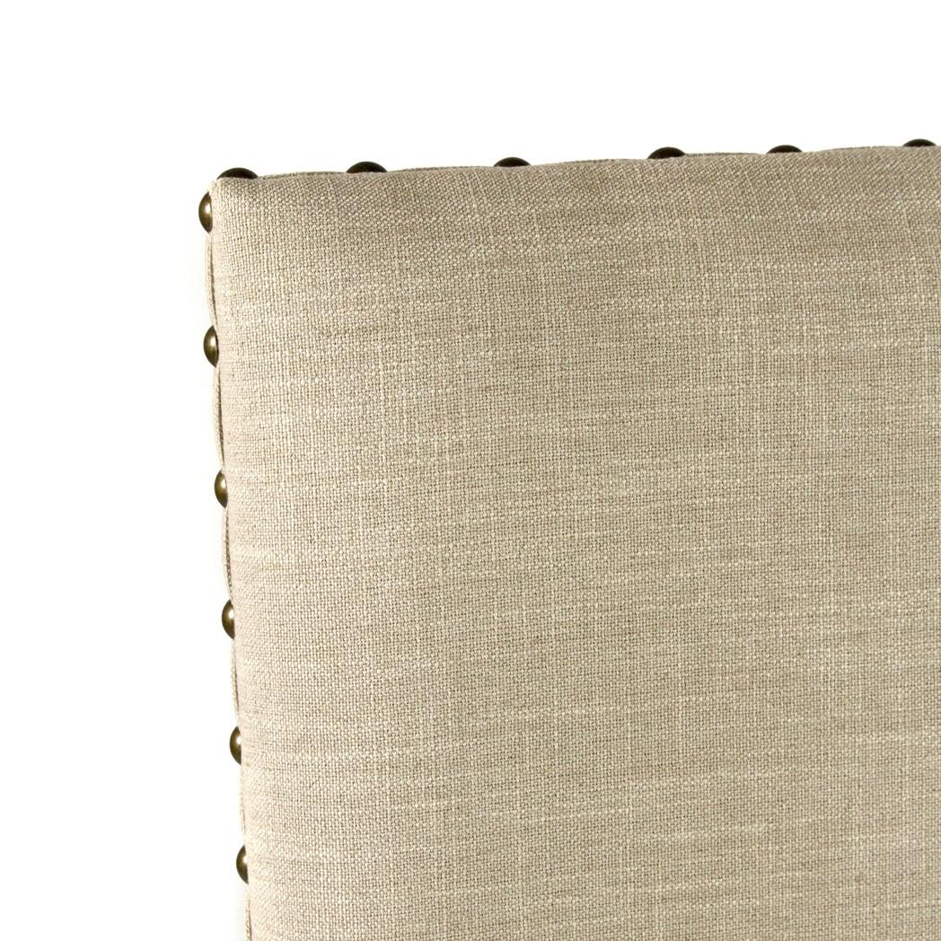 Norah Chair Natural Linen Dark Walnut