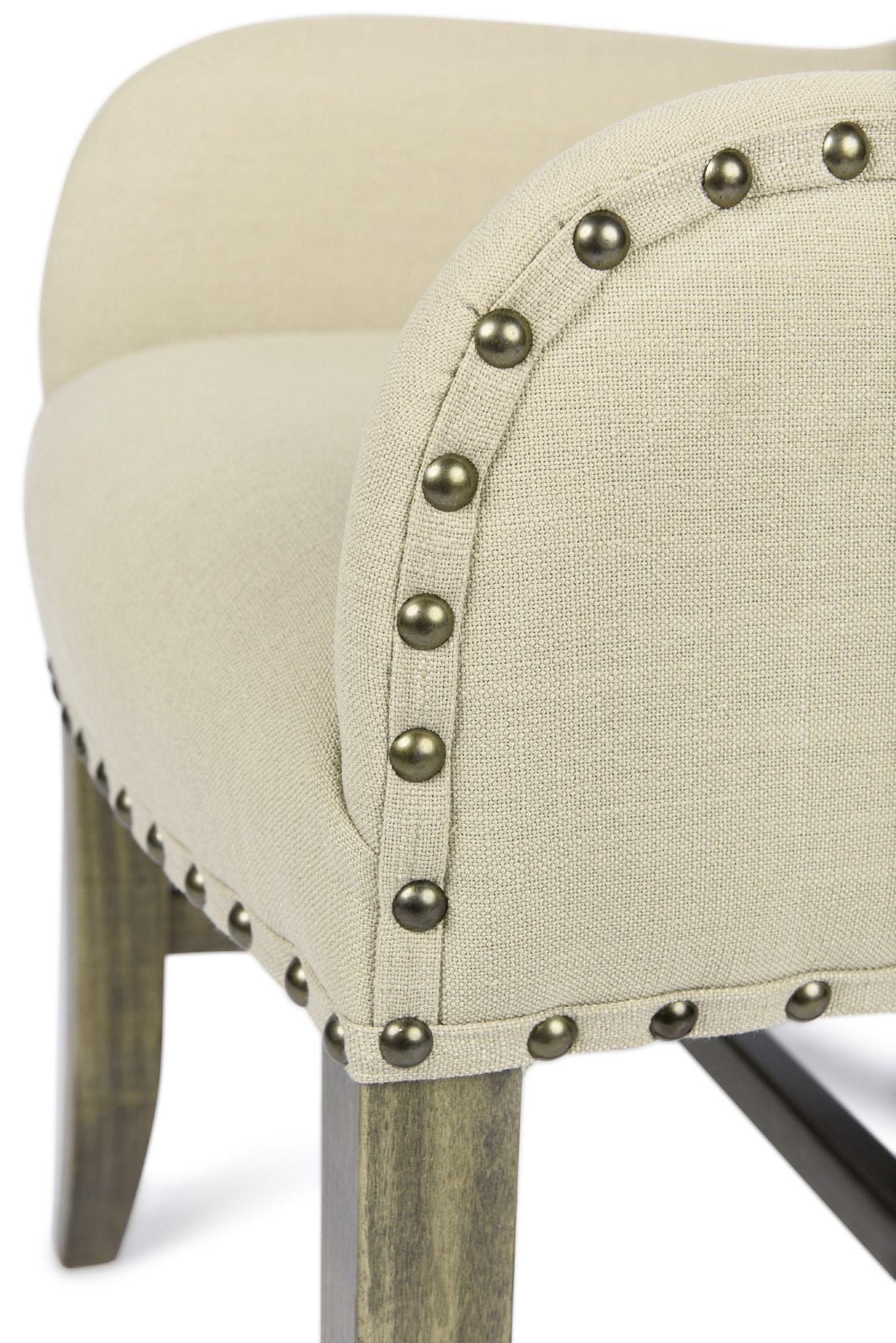 Winston Arm Chair Natural Linen Driftwood