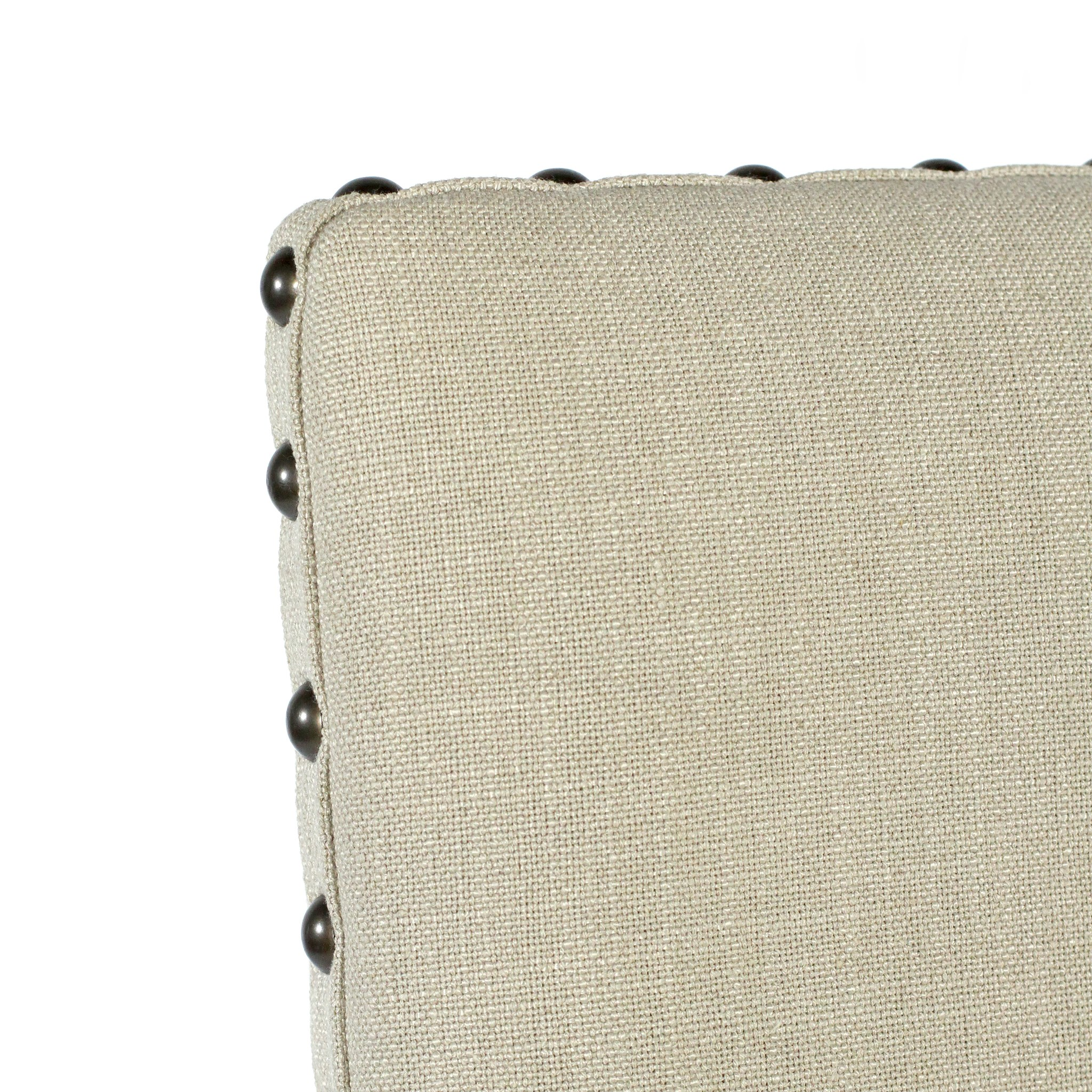 Winston Arm Chair Natural Linen Chestnut