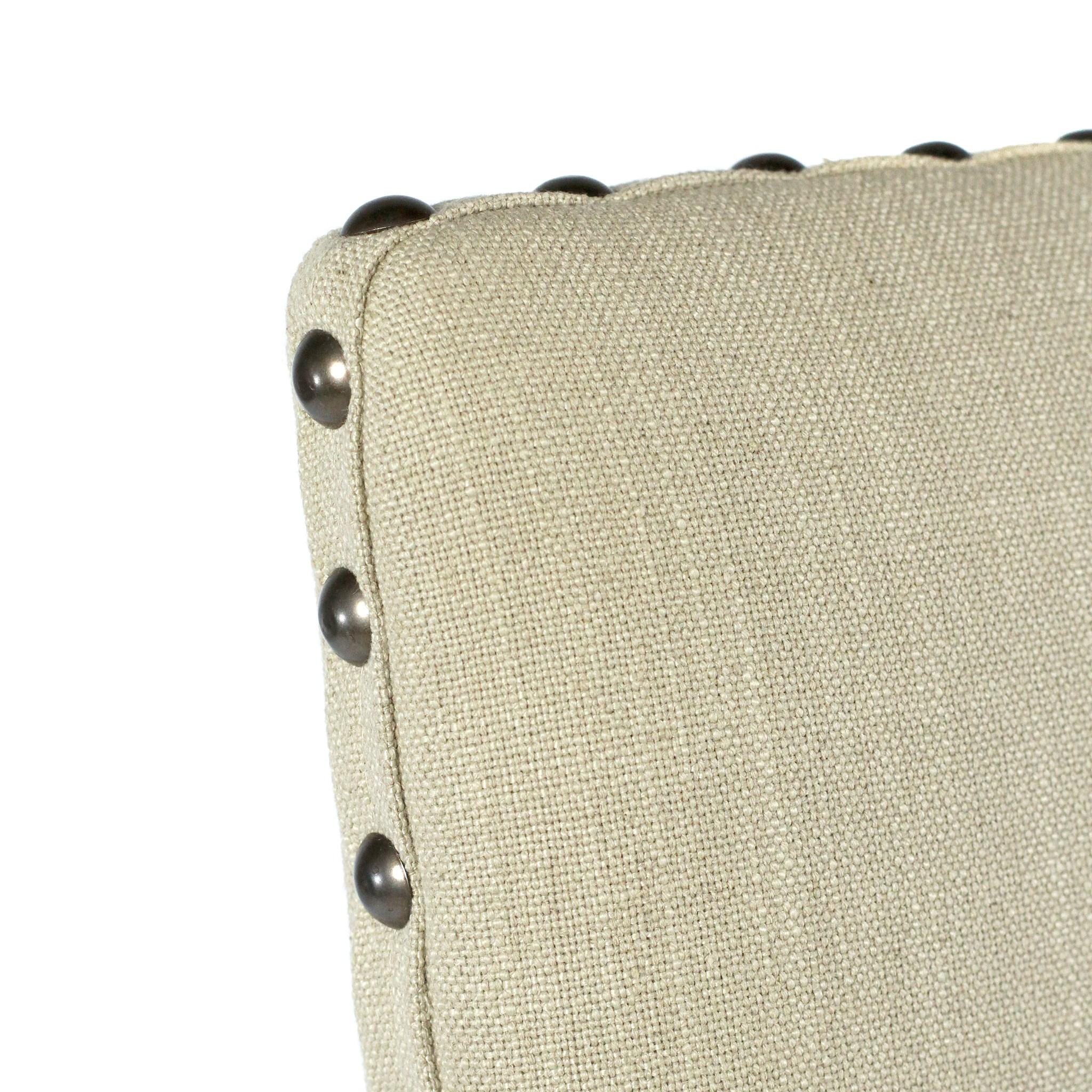 Winston Side Chair Natural LinenChestnut