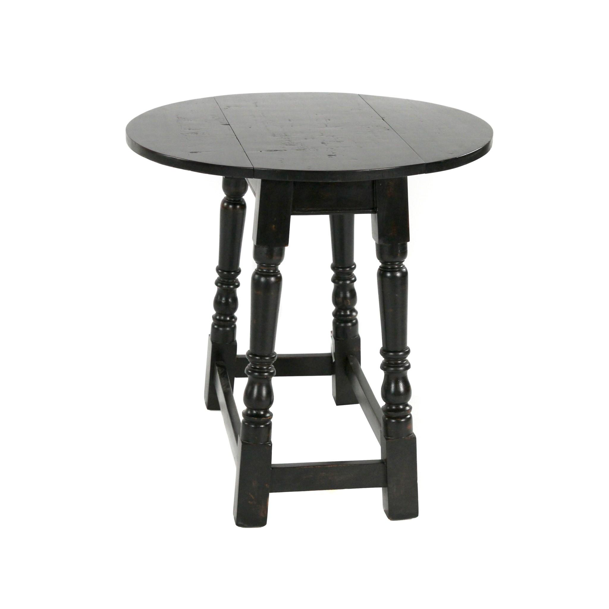 Drop-leaf Side Table 24x24x24 Black