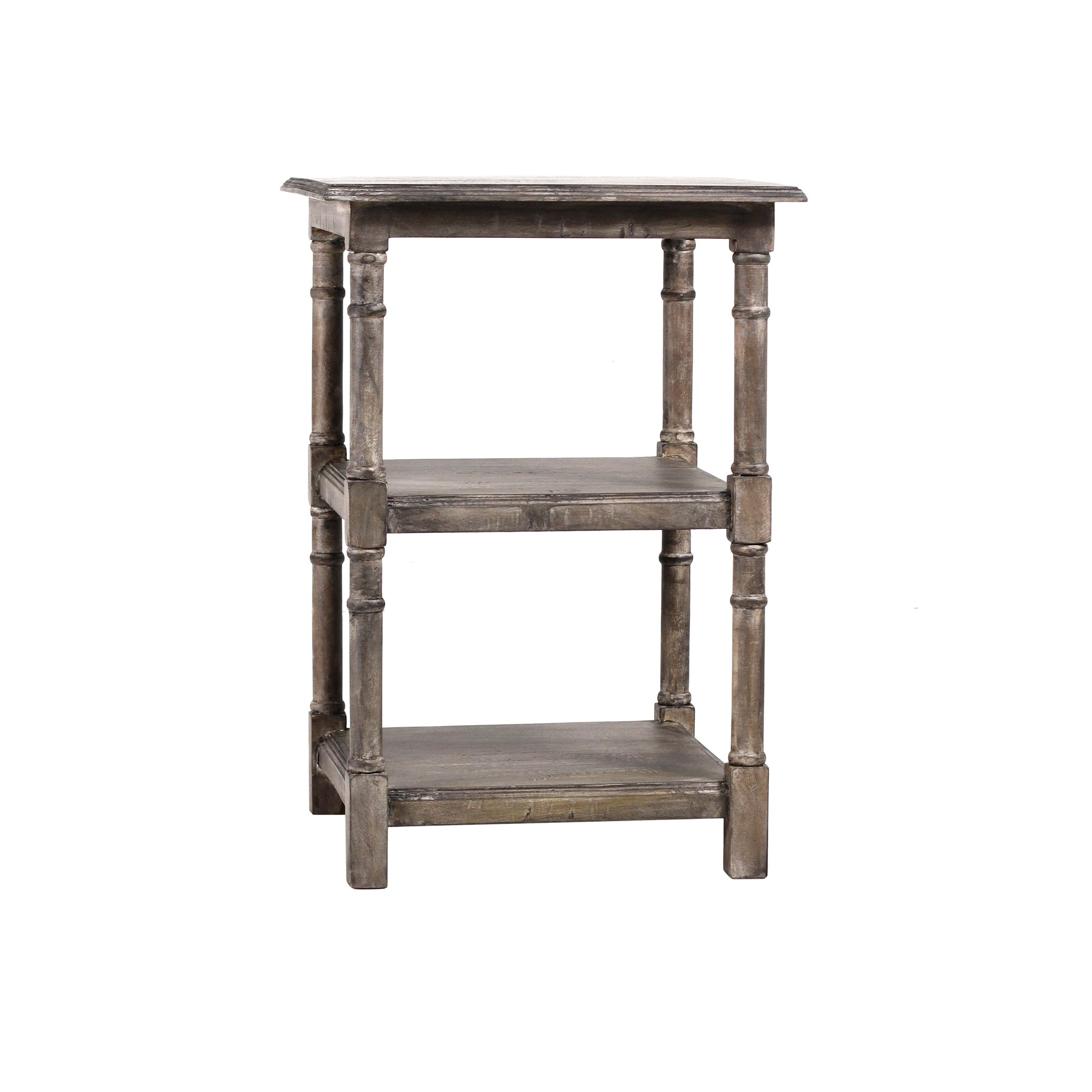 Haynes Side Table w/Shelf 20x20x28 Salvage