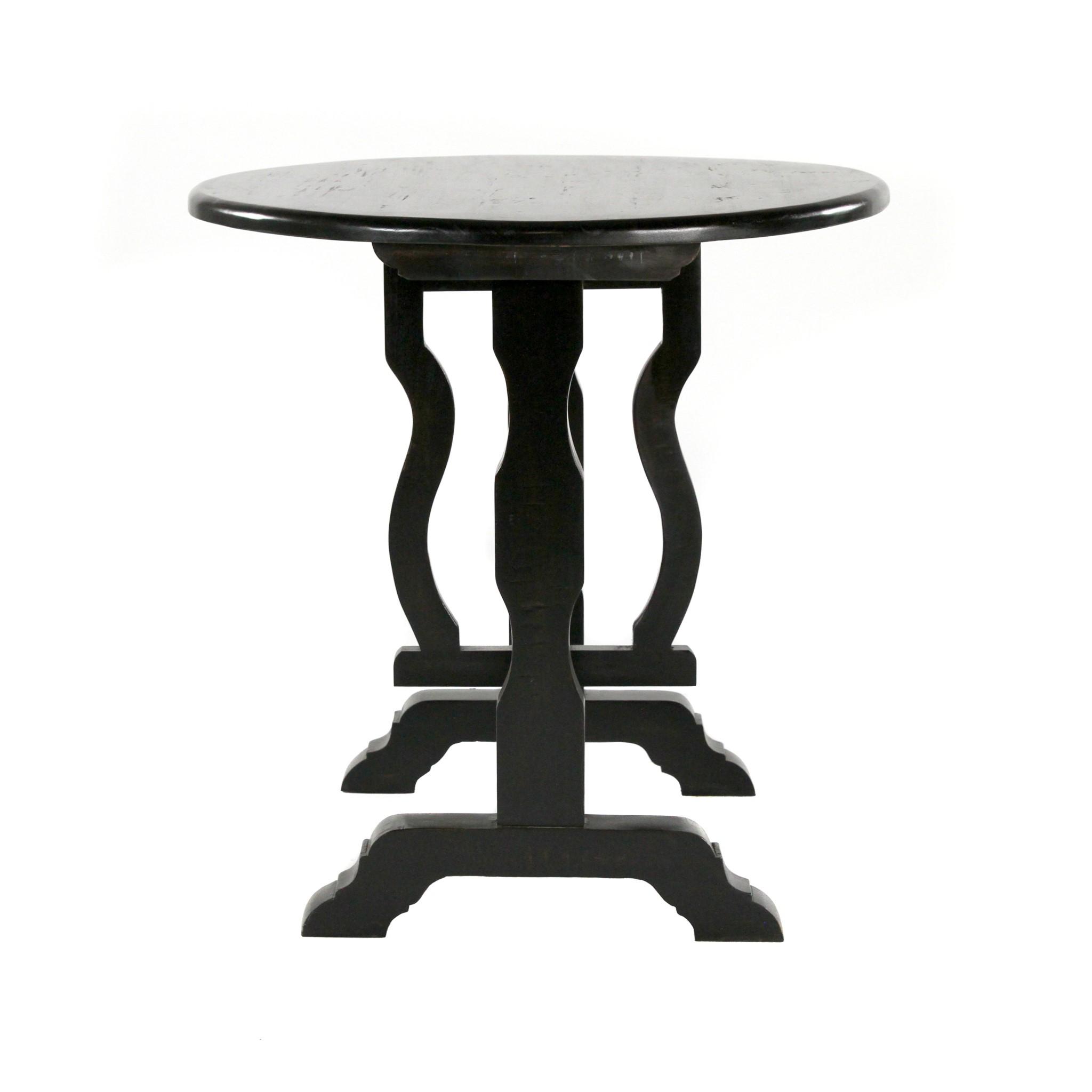 Flip Top Round Table (BLK) 30x30x30