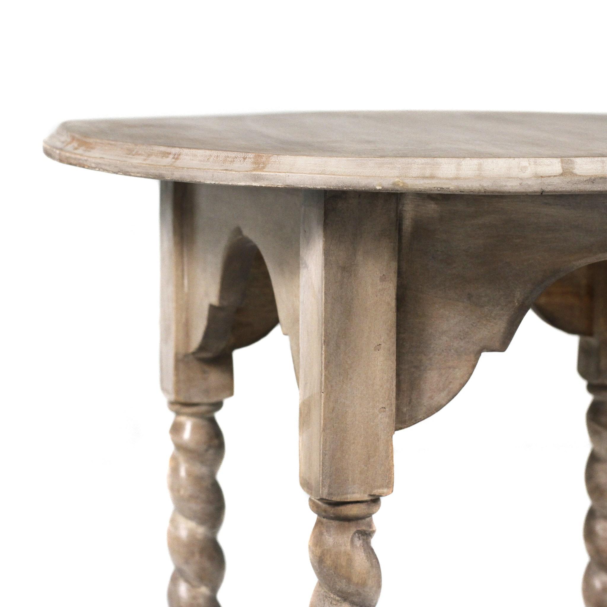 Barley Twist Rd Side Table SAL 22x22x28