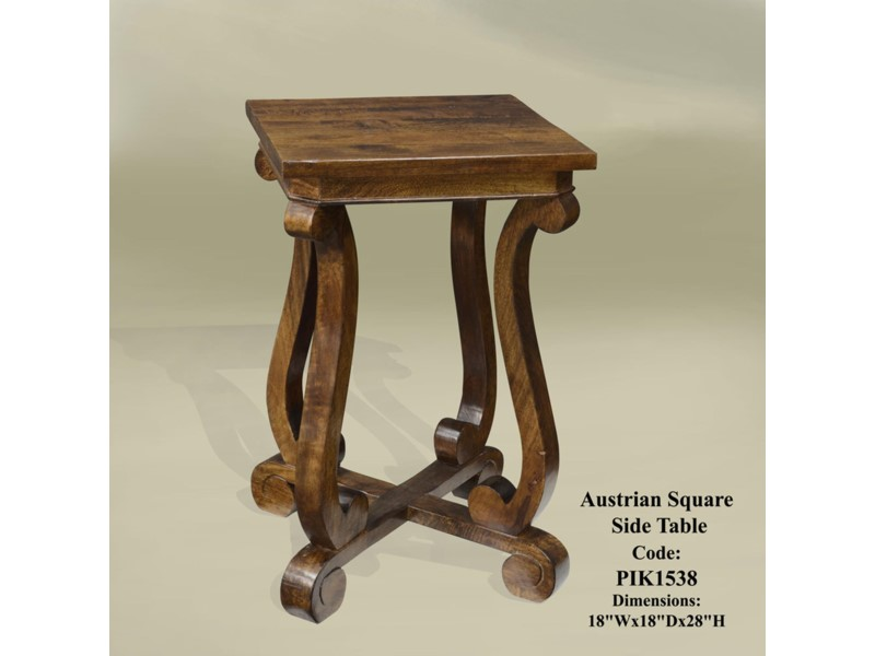 Austrian Square Side Table Chestnut