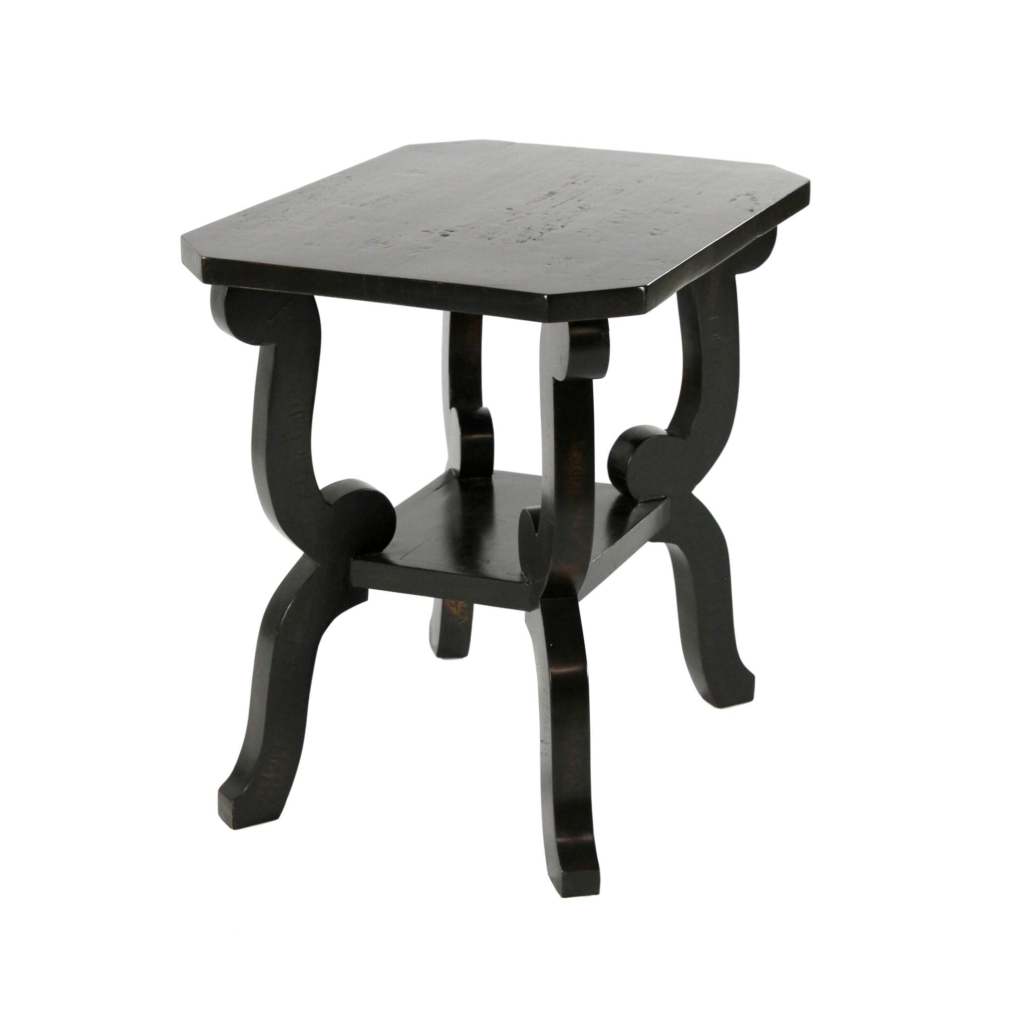 Biedermeier Side Table Black 26x20x26