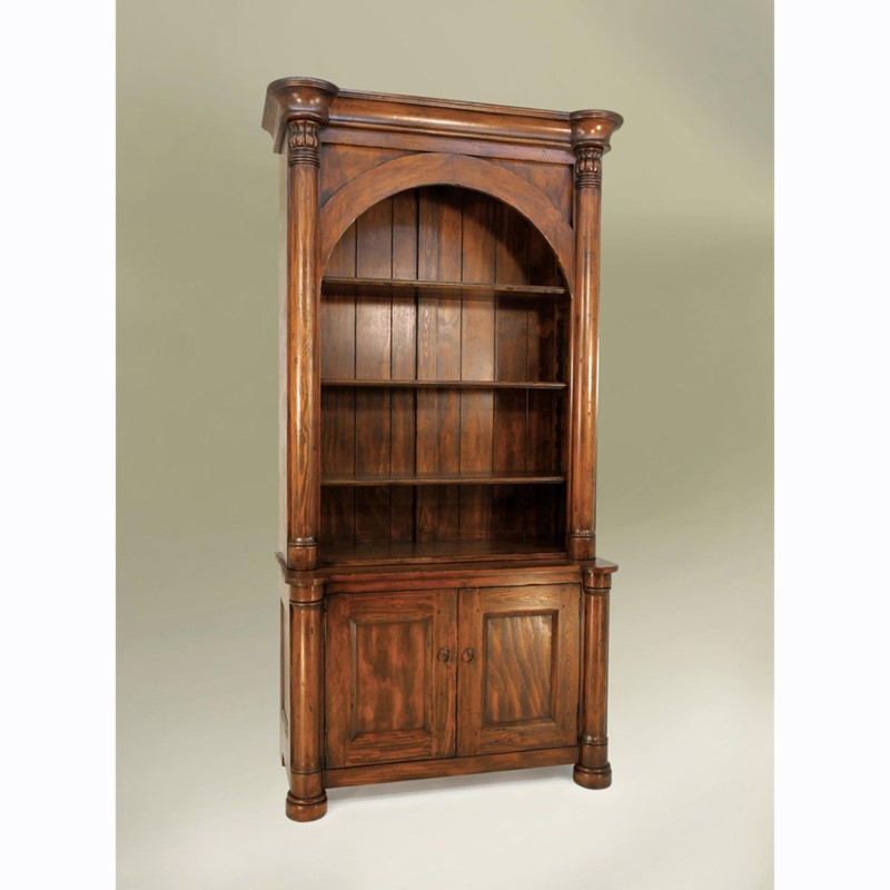 Biedermeier Single Arch Bookcase Tobacco
