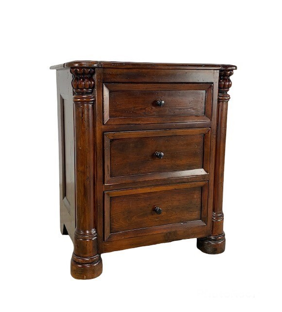 Biedermeier Night Stand Small Tobacco