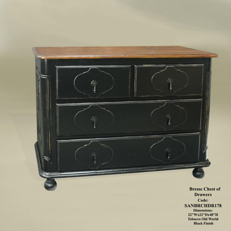 Bresse Chest of Drawers Tob/OW Blk