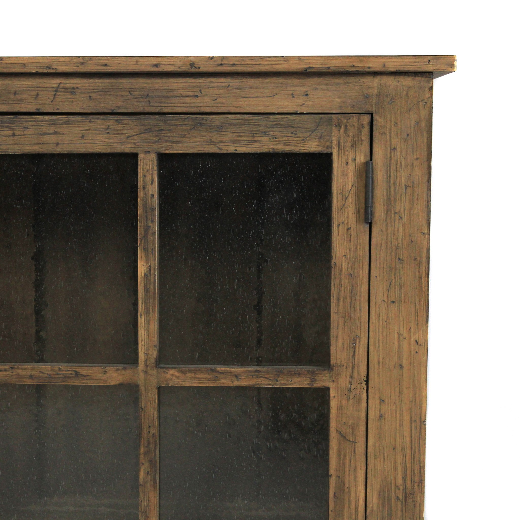 Double Display Cabinet (BASE ONLY) Driftwood