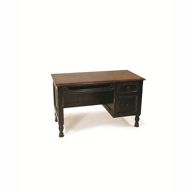 Country Desk Small Dark Walnut/OW Black