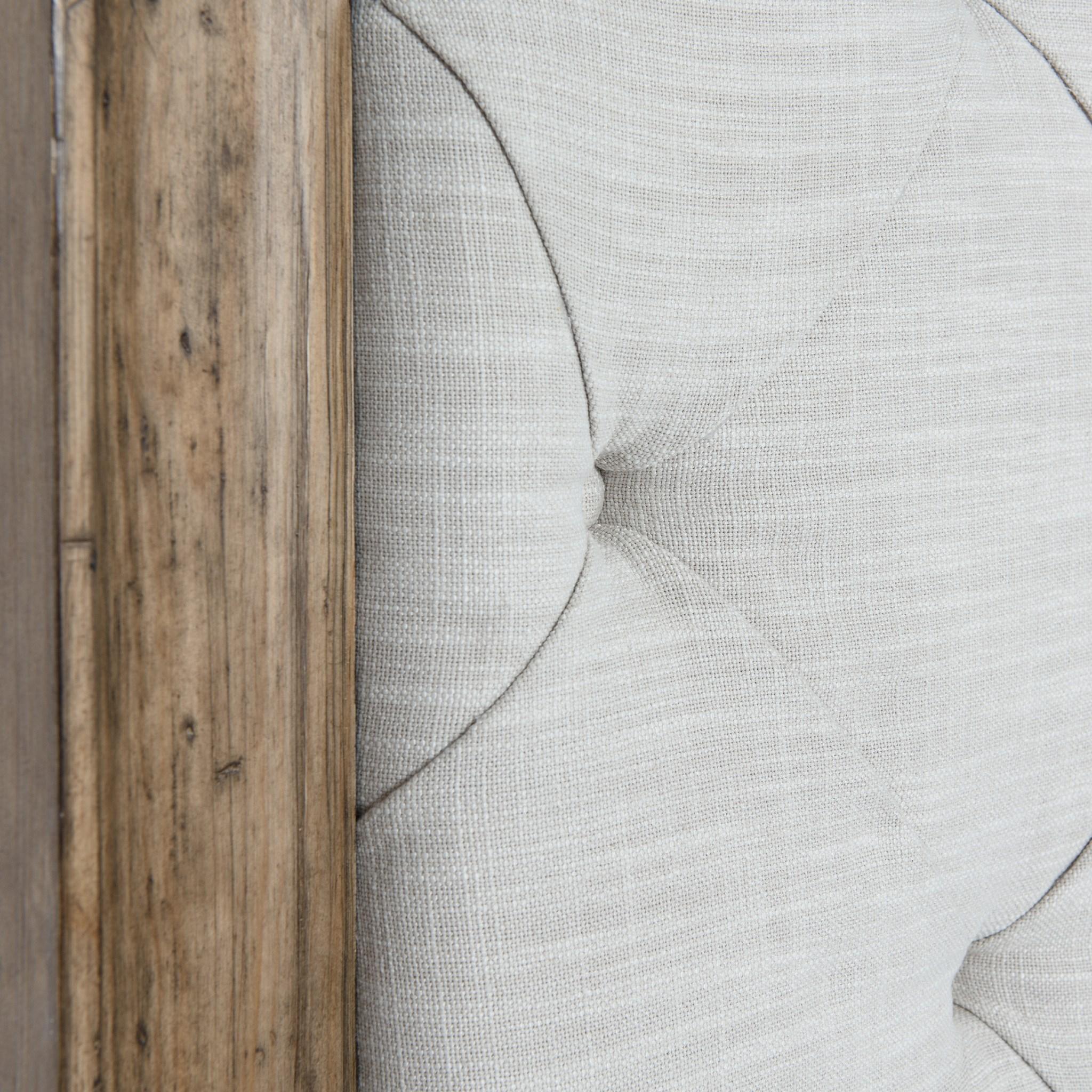 Josephine Headboard Tufted King Driftwood