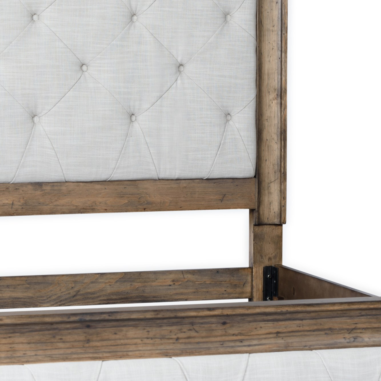 Josephine Bed King Tufted Driftwood