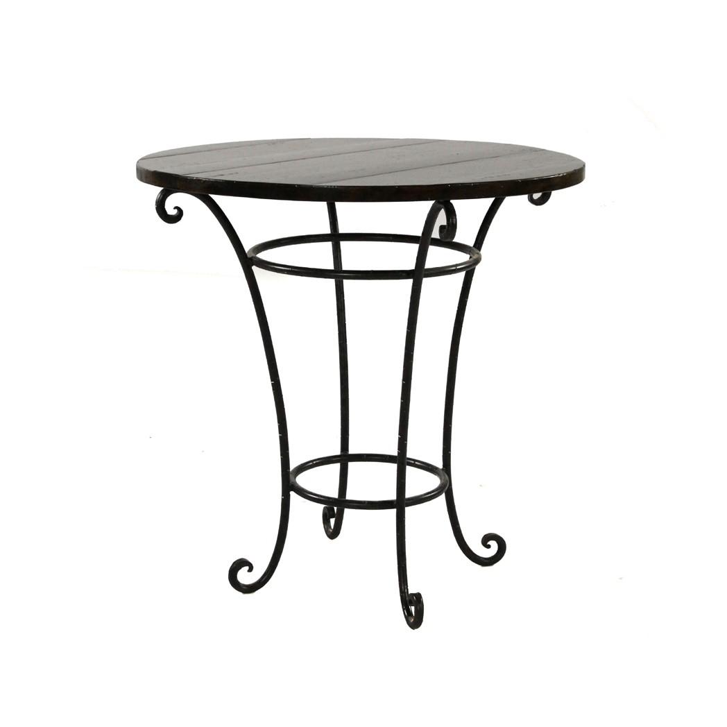 Lamp Table with Iron Base Tuscany