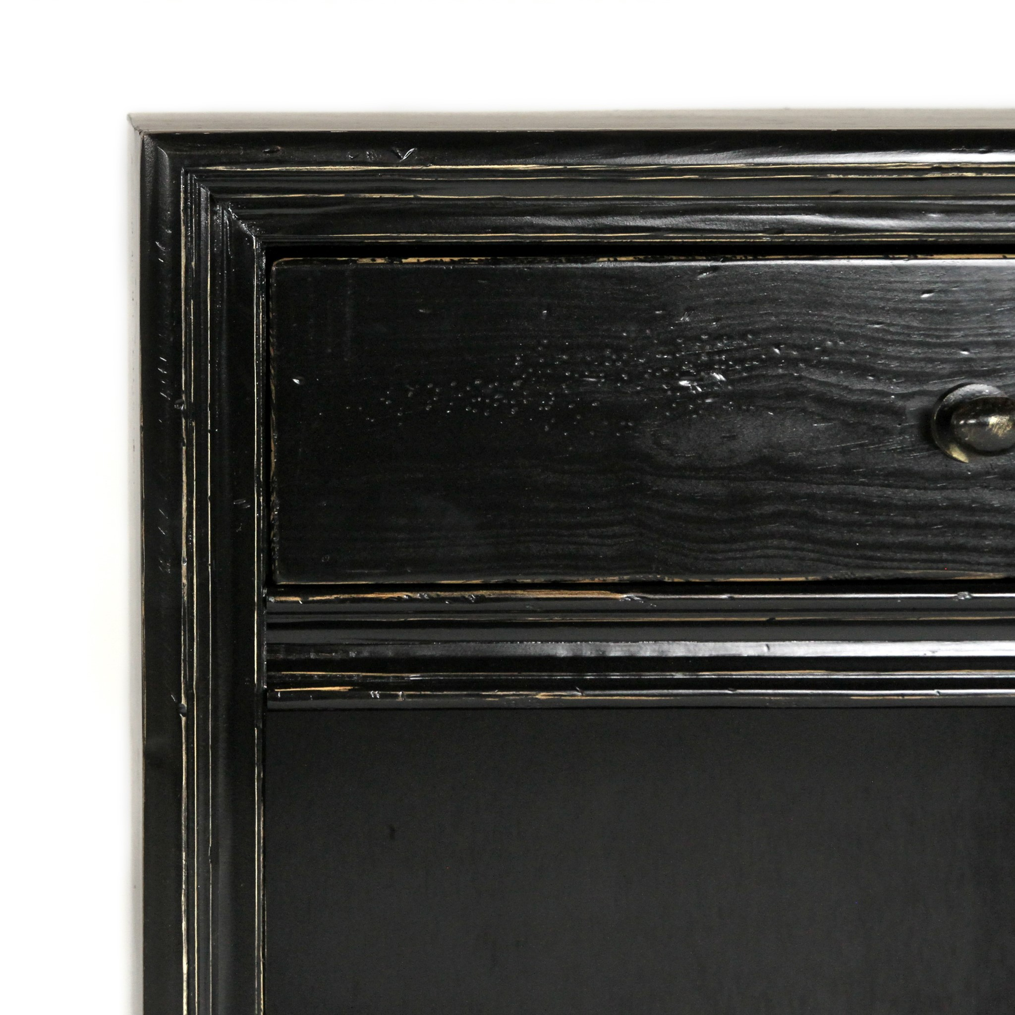 Malcolm Nightstand Driftwood / OW Black