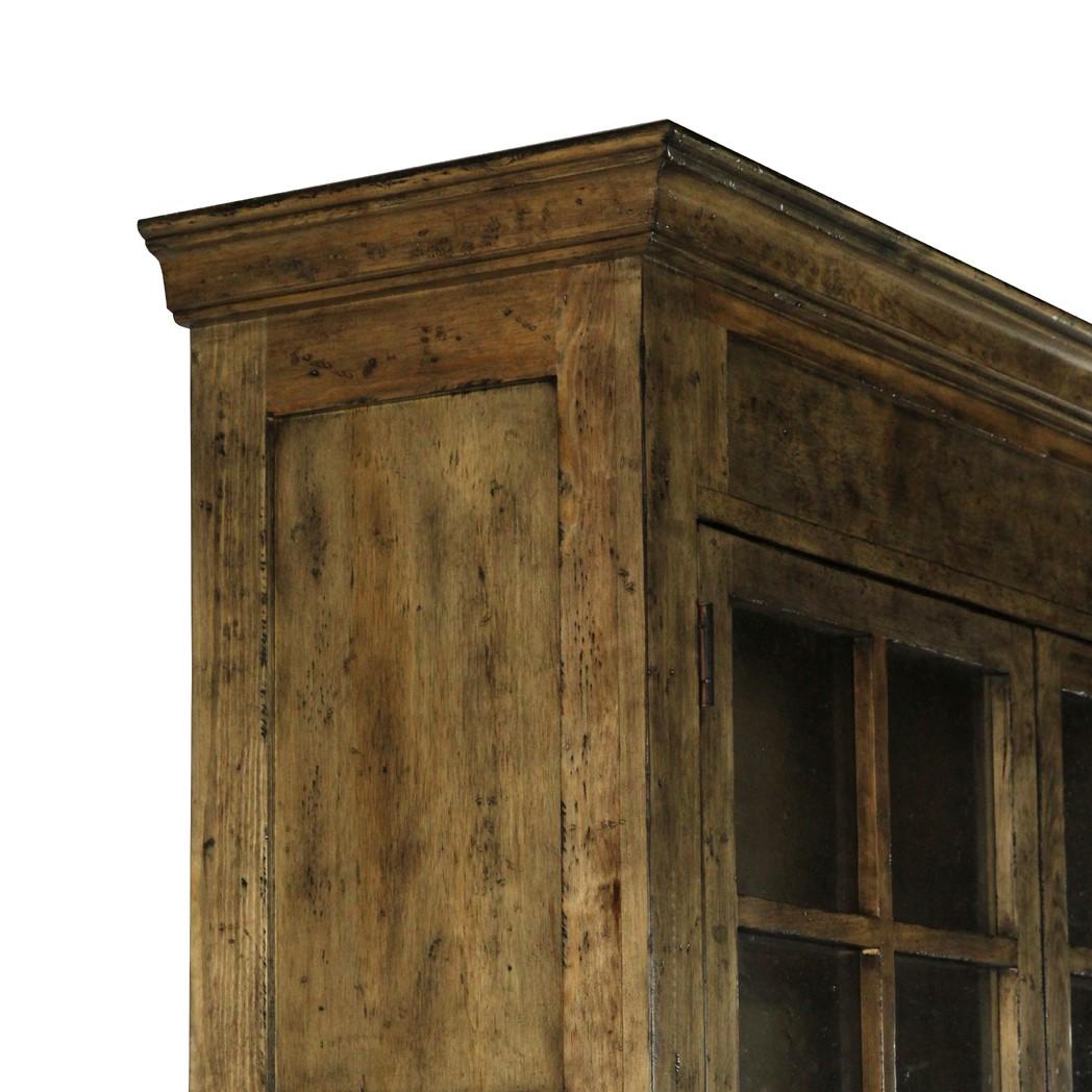 Single Display Cabinet Pine Earth
