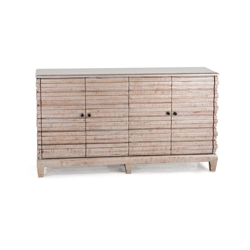 Southside Console 4 Door Natural White