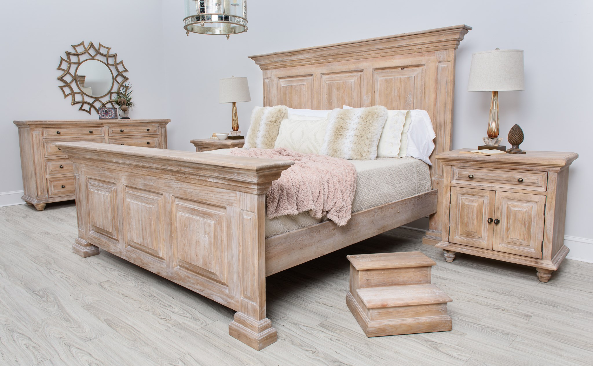 Step for Bed Natural White