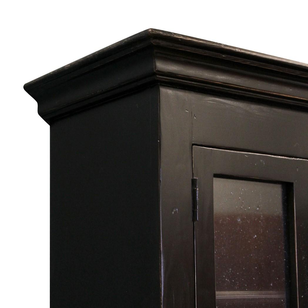 Tall Bath Cabinet Old World Black