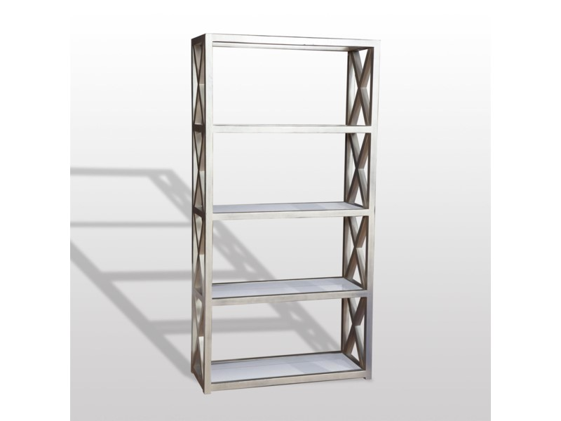 Tiffany Bookcase 78x40x16 Champagne